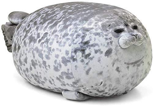 Lifattitude Almohada de peluche de algodón suave con diseño de animales (grande)