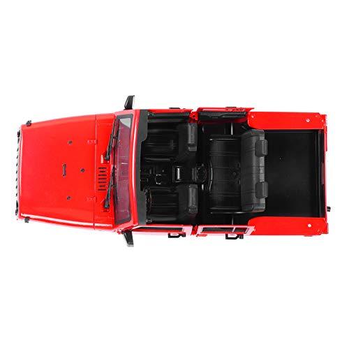 DAUERHAFT 1 Juego de plástico ABS de Carcasa de Coche RC Carcasa de carrocería de Coche RC con excelente Rendimiento anticolisión Adecuado para Enfriar tu Coche(Red)