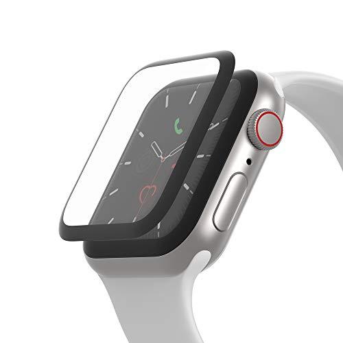 Belkin - Protector de pantalla para Apple Watch Series 5 y 4, protector de borde a borde para el modelo de 44 mm