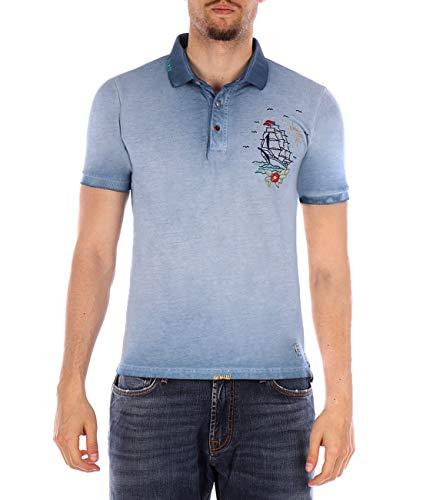 Bob Polo-Shirt Charry blau durchsichtig XXXL