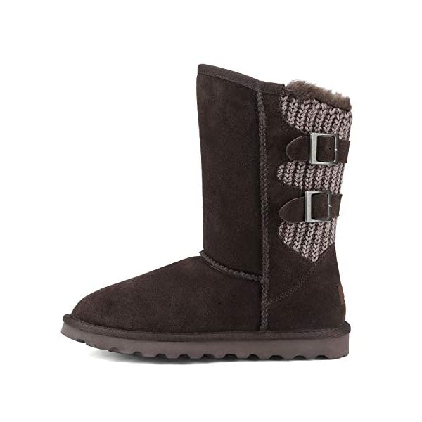 DREAM PAIRS Women's Mid Calf Fashion Winter Snow Boots