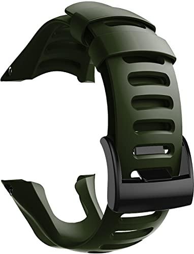 Gransho Cinturino per Orologio in Silicone Caucciù Impermeabile compatibile con Suunto Ambit3 Peak/Ambit 2 / Ambit 1 - Cinturini per Orologi (Pattern 1)