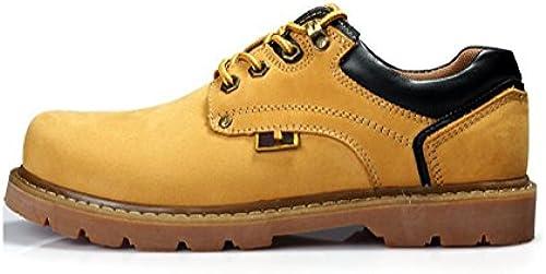 Adidasyer Herren Martin Stiefel Wasserdicht und Rutschfest Original Leder Schnüren Atmungsaktiv Warm halten Leicht Dauerhaft Schuhe zum Draussen Laufen Reisen Trekking Wandern