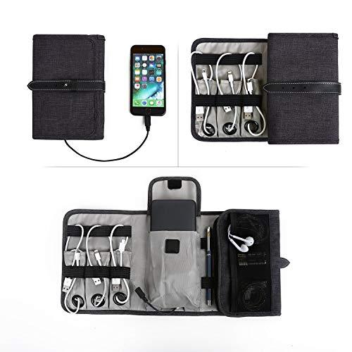 Agolaty Bolsa Travel Cable Organizer Electrónica portátil Accesorios Estuche para Varios USB,...