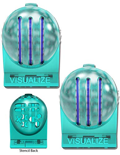 VISUALIZE TRI-LINE Golf Alignment Kit - (2-Pack) Unique 3 Line Golf Ball Marker - Golf Accessories That Make Perfect Golf Gifts for Men or Women! Triple Your Confidence on The Putting Greens!