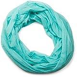 styleBREAKER leichter unifarbener Loop Schlauchschal, seidig, Unisex 01016076, Farbe:Türkis