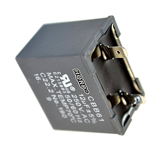HQRP 12uf Refrigerator Capacitor Compatible with Hotpoint WR55X20800 WR62X79 JSU21X126 WR55X24064 PS305006 Replacement UL Listed
