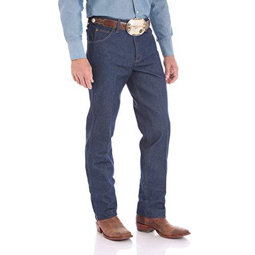 Wrangler Pantalones vaqueros de corte vaquero de alto rendimiento para hombre - Negro - 34W x 38L