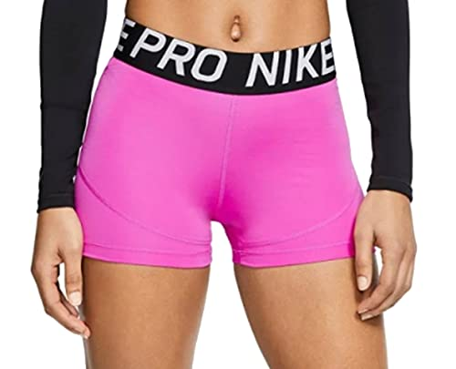 Nike Womens Pro 3 Inch Compression Shorts (Fuchsia/Black, Medium) (Fuchsia/Black, Medium, m)