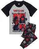 WWE Pijamas Chicos Wrestle Mania Camiseta Pantalones niños PJS Set 12-13 años