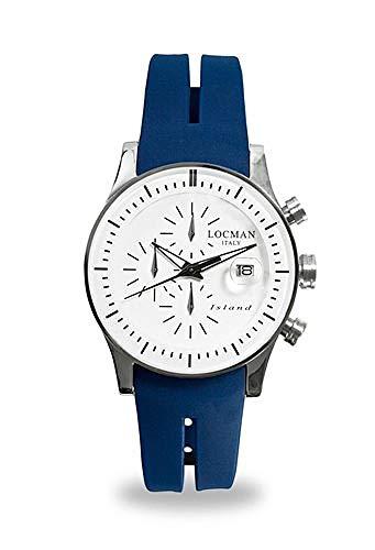 Reloj Locman Island 062000WB-whksib al Cuarzo (batería) Acero quandrante Blanco Correa Silicona