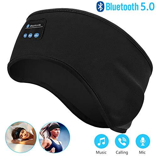 Linkax Schlaf Kopfhörer Ohrstöpsel Bluetooth V5.0 Sport Stirnband Kopfhörer mit Ultradünnen HD Stereo Lautsprecher,Perfekt für Sport, Seitenschläfer, Flugreisen, Meditation und Entspannung