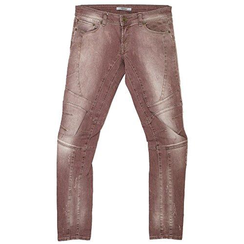 Imperial, Moto Donna, Damen Damen Jeans Hose Stretchdenim Redbrown Vintage W 28 L 32 [20365]