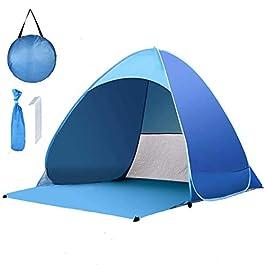 Tente de plage Pop Up pour 1-3 personnes, tente de plage instantanée automatique étanche anti-UV, tente de camping pour…