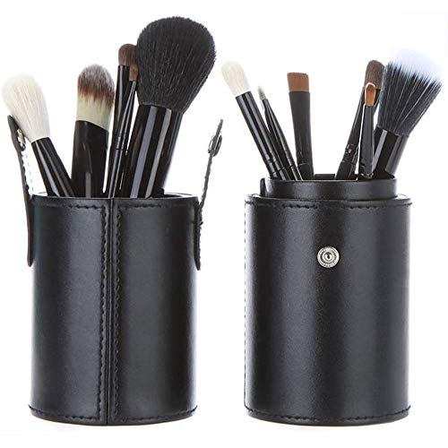 WEHQ Maquillage Pinceaux Professionnel avec étui, 11 pièces de Maquillage de Brosse pour la Fondation Eyeliner Fard à Joues en Poudre Correcteur Contour Fard à paupières Sourcils cosmétiques Outil