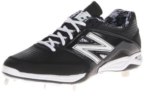 New Balance - Baseball-Spikes in Schwarz mit Weiß, Größe 47.5 EU