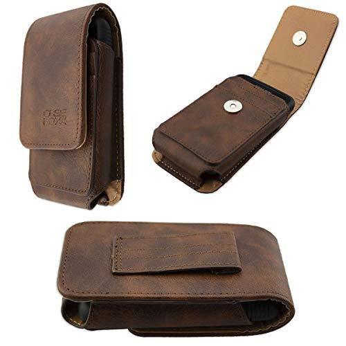 caseroxx Ledertasche mit Gürtelschlaufe für Dexcom G6 Receiver, Tasche (Ledertasche mit Gürtelschlaufe in braun)