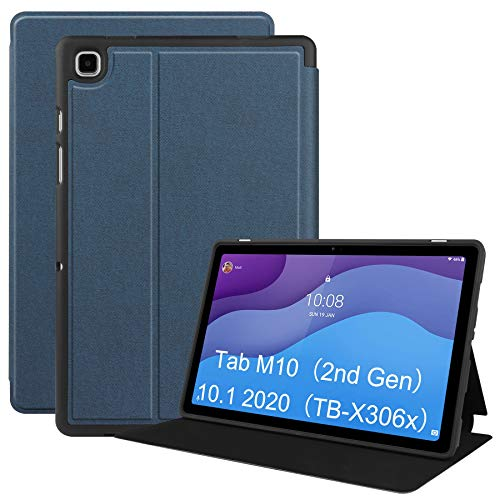VOVIPO Lenovo Tab M10 HD 2nd Gen Slim Case- Ultra Slim TPU Backshell Drop Protection Stand Cover with Multi-Viewing Angles for Lenovo M10 HD 2nd Gen(2020 Realeased) 10.1 Inch TB-X306F/TB-X306X (Navy)