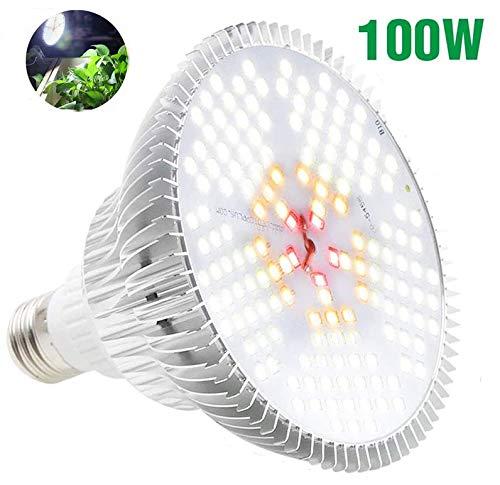 100W LED Pflanzenlampe E27 Grow Light, Derlights 150 LEDs Vollspektrum Pflanzenlicht, Daywhite Grow Lampe Pflanzenlampen Wachstumslampe für Pflanzen Garten Gewächshaus Zimmerpflanzen