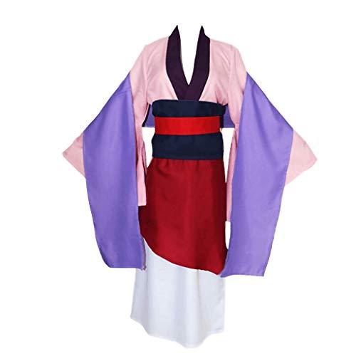 Hanfu Vintage Antiguo disfraz chino para mujer, cosplay Mulan, ropa para fans de la película, vestidos chinos antiguos para anime rendimiento, conjunto de uniformes de talla grande