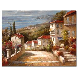 """Trademark Art""""Home in Tuscany"""" Canvas Art by Joval"""