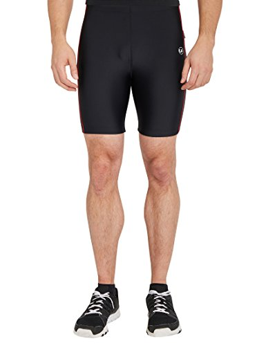 Ultrasport Pantalon Fitness, Court Short de sport Homme, Noir/Rouge, Small