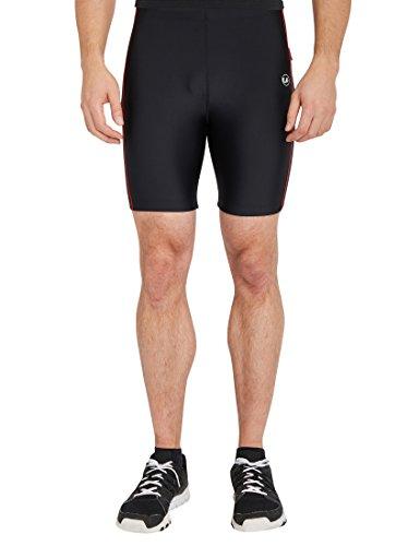 Ultrasport Pantalon Fitness, Court Short de sport Homme, Noir/Rouge, Large