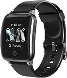 LETSCOM Smartwatch, Fitness Tracker mit Herzfrequenzmesser, Schrittzähler Schlafkontrolle IP68 wasserdichter Fitness Armband 1,3 Zoll Fitnessuhr GPS zur Aktivitätsverfolgung für Frauen Männer