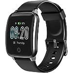 LETSCOM Smartwatch Fitness Tracker mit Herzfrequenzmesser