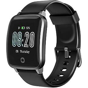 LETSCOM Smartwatch Fitness Tracker mit Herzfrequenzmesser Schrittzähler Schlafkontrolle IP68 wasserdichter Fitness Armband 1,3 Zoll Fitnessuhr GPS zur Aktivitätsverfolgung für Frauen Männer