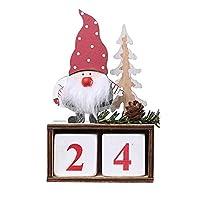 Ruiqas クリスマスの飾り クリスマスカウントダウンカレンダー 木製ブロック 机 家族 オフィス デスクトップ装飾 ギフトボックス クリスマスアドベントカレンダー