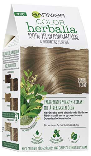 Garnier Color Herbalia Dunkelblond 100% pflanzliche Haarfarbe, 3er Pack(3 x 143 g)
