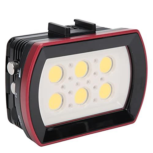 Luz de relleno de buceo, 40M, regulable, impermeable, LED, lámpara de relleno de buceo, aleación de aluminio, luz subacuática para cámara de deportes de acción, para acampar, fotografía submarina