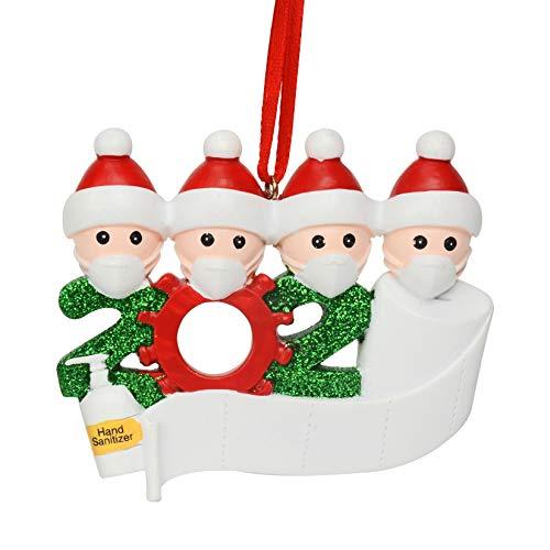 Cymax Christbaumschmuck Weihnachtsanhänger,2020 Personalisierte Familie Von 4 Weihnachten 2020 Christbaum Deko Feiertags Dekorationen Segen Harz Schneemann Anhänger Weihnachtsbaum Hängen