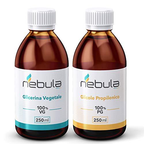 KIT BASE NEUTRA NEBULA 500 ML - GLICOLE PROPILENICO + GLICERINA VEGETALE 50VG/50PG