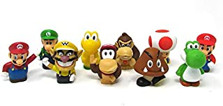 Super Mario Brothers Deluxe 10 Piece Bath Play Set Featuring Mario and Friends