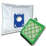 10 x Mr.Clean Staubsaugerbeutel + Hepa Filter (H13) geeignet für AEG PowerForce CLASSIC Hygiene Filter APF6111 APF 6111