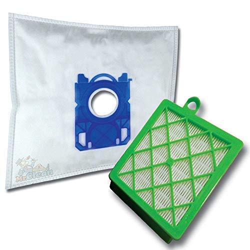 20 x Mr.Clean Staubsaugerbeutel + Hepa Filter (H13) geeignet für Philips Performer Ultimate FC8955/09