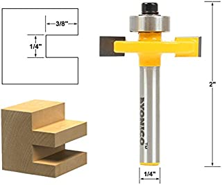 Yonico 14184q 1/4-Inch Height X 3/8-Inch Depth Slot Cutter Router Bit 1/4-Inch Shank