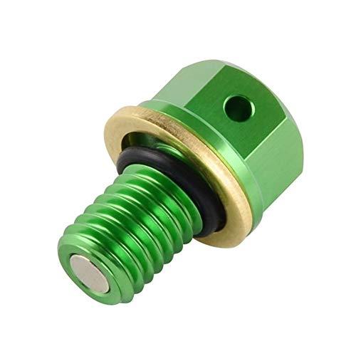MSJFUBANGBM FUBANGBM M10xP1.5 Magnetische Ölablassschraube Bolt fit for Kawasaki KX 60 65 80 100 125 250 KX250F KX450F KLX250 300 KDX200 220 175 (Color : Green)