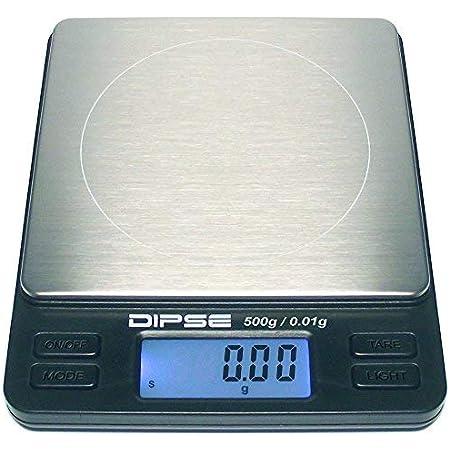 Dipse TP Balance numérique haute précision avec plateforme extra grande – Balance de poche – Convient pour pesage d'or, 500g x 0,01g