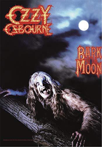 Heart Rock Licensed Flagge Ozzy Osbourne–Bark at The Moon, Stoff, Mehrfarbig, 110x 75x 0,1cm