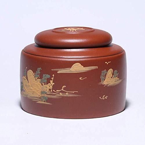 GCZZYMX Urnas para cenizas para adultos, la cremación urnas jardín grande entierro humano Memorial urnas de arcilla púrpura hermoso recuerdo Memorial 26.5X26.5X12Cm