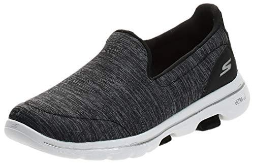 Skechers Women s GO Walk 5-Honor Sneaker  Black/White  7.5 M US