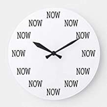 The Time is Now Wall Clocks Large Decorative Silent Non-Ticking Wood Clock for Women 16 Inches