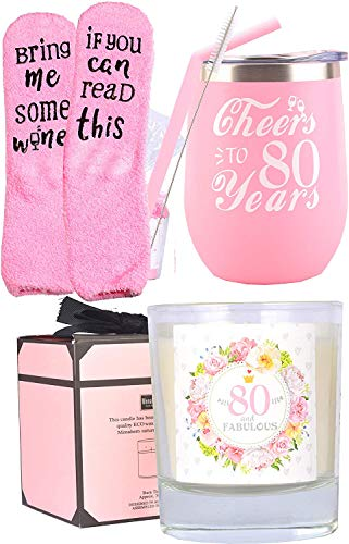 Cheers to 80 Years Wine Tumbler Gift Set