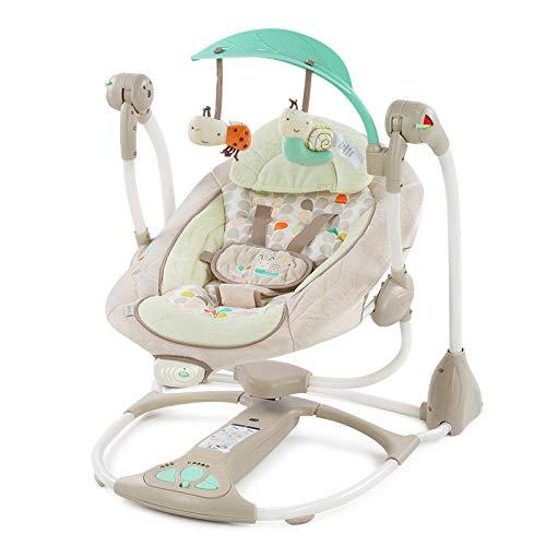 LLZH Elektrische Babyschaukel, Faltbare tragbare Babywippe, 5 Schaukelgeschwindigkeiten und beruhigende...