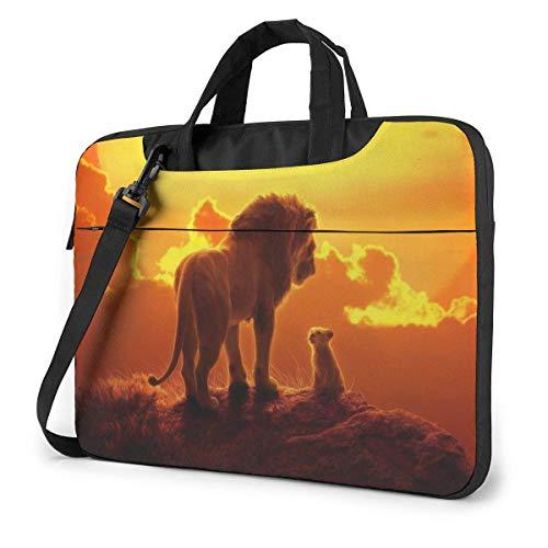 Hdadwy König der Löwen Simba Laptop-Hülle Laptoptasche Tablet Aktentasche Ultraportable Schutzhandtasche Oxford-Tuch - für MacBook Pro/MacBook Air/Notebook 14 Zoll