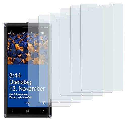 mumbi Schutzfolie kompatibel mit Nokia Lumia 830 Folie klar, Bildschirmschutzfolie (6X)