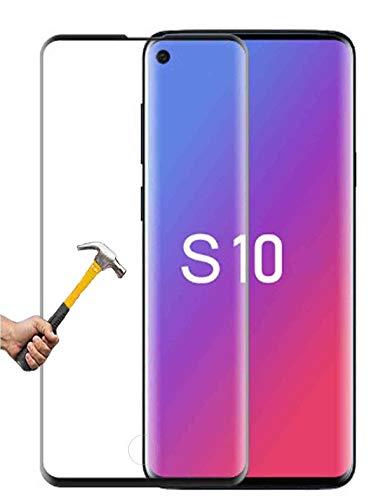 ino Panzerglas passend für Samsung Galaxy S10 volle Abdeckung transparent Full Schutzfolie Glasfolie 9H Härte Handyschutz 3D Schutzglas